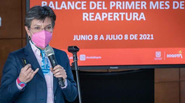 Bogotá no contempla por ahora abrir discotecas ni estadios