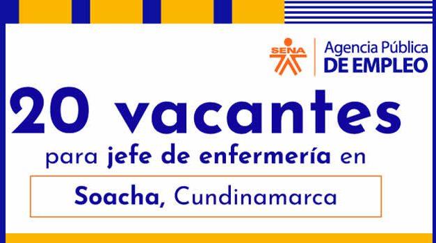 Ofertas laborales en Soacha para personas con formación y experiencia en el sector salud
