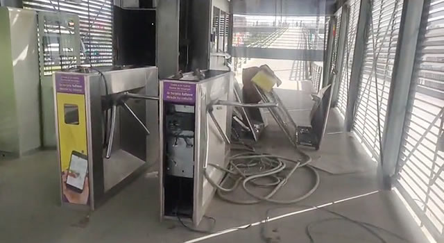 Transmilenio volvió a referirse a los daños que sufrió la estación San Mateo en Soacha