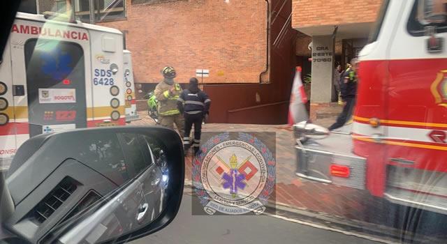 Un herido por fuerte explosión en apartamento del norte de Bogotá