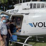 Cundinamarca ya tiene helicóptero para traslado de vacunas contra Covid-19
