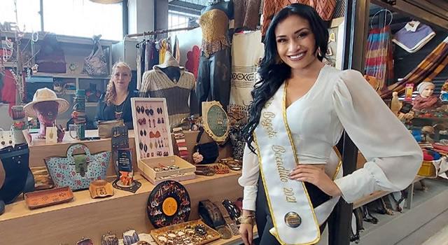Leidy Tavera, señorita Bogotá en el Reinado Nacional del Bocadillo en Vélez, Santander