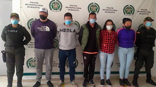 Capturan a 'Los Cuatreros', exigían dinero por falsas encomiendas en Bogotá y Cundinamarca