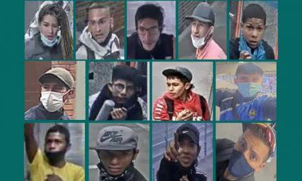 Tres mujeres aparecen en la lista de los más buscados por vandalismo en Bogotá