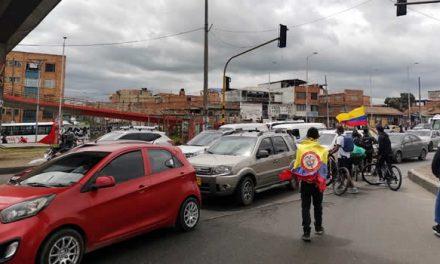 Movilización en Soacha detiene tráfico sobre la autopista Sur