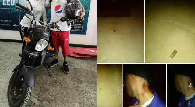 Otra moto que se roban en Soacha, delincuentes arremeten contra los ciudadanos