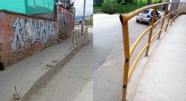 [VIDEO]  Delincuencia en Soacha no tiene límites, se robaron pasamanos de un sendero peatonal