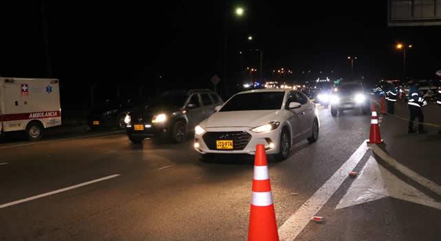 Más de 36 mil vehículos ingresaron el puente festivo por la autopista Sur en Soacha