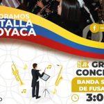 Avenida Centro Comercial de Fusa conmemora Batalla de Boyacá con la banda sinfónica