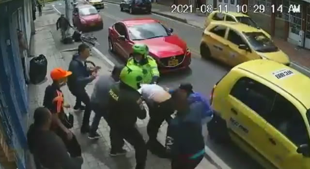 A la cárcel sujeto que disparó contra patrullero Humberto Sabogal en Bogotá
