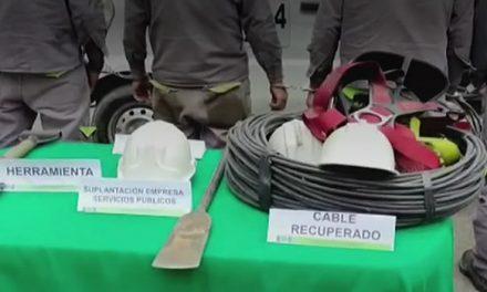 Capturan sujetos que montaban obras falsas en Bogotá para robar cable