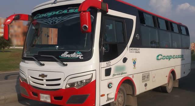 'Piratas' atacan carros de Coopcasur para evitar que presten servicio nocturno a Santo Domingo, Soacha