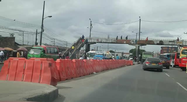 Usuarios piden explicación sobre cierre del cruce de la calle 13 de Soacha