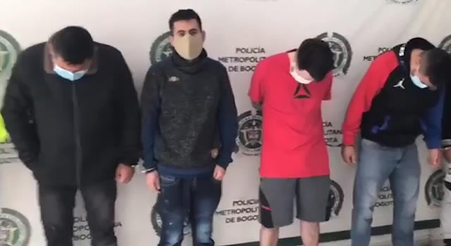 [VIDEO] Desarticulan a 'Los Frío', peligrosa banda que robaba a clientes de los bancos en Bogotá