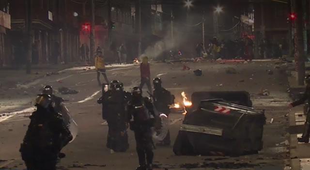 Jornada de paro del 26 de agosto no pudo terminar sin hechos violentos en Bogotá