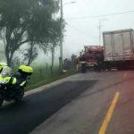 Aparatoso accidente de tránsito cerca de Ubaté, Cundinamarca