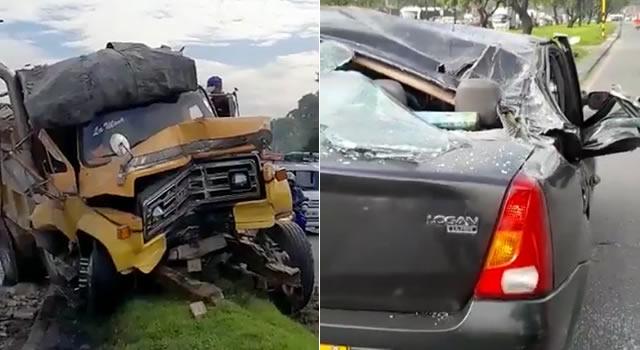 [VIDEO] Volqueta protagoniza impresionante accidente en la avenida Boyacá, Bogotá