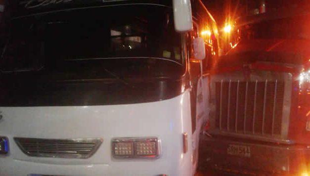Hablan heridos del accidente de esta madrugada en la autopista Sur de Soacha