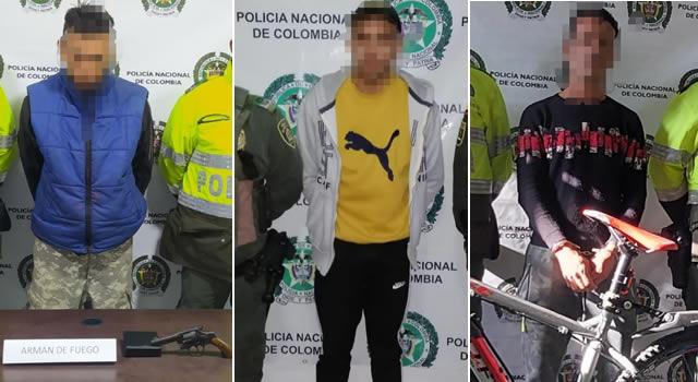 Tres capturas por diferentes delitos en Soacha