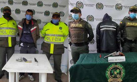 Cinco capturas por porte ilegal de armas de fuego en Soacha