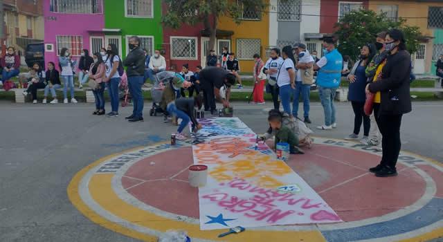Acto conmemorativo a jóvenes que perdieron la vida en el CAI San Mateo de Soacha