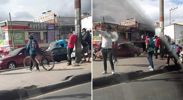 Otro accidente por imprudencia de controladores 'piratas' de tráfico en la autopista Sur de Soacha