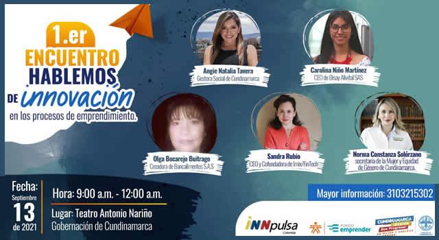 Mujeres de Cundinamarca, a hablar de innovación en los procesos de emprendimiento