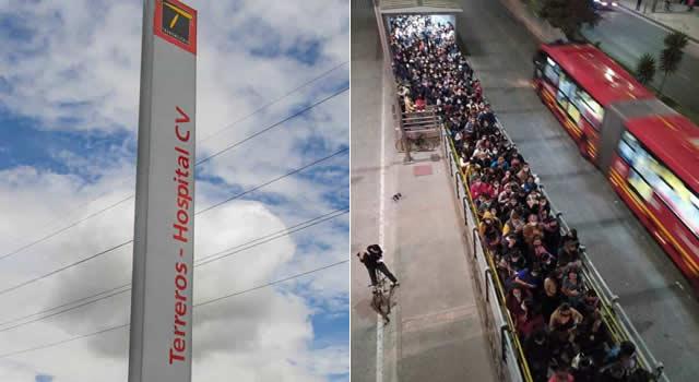 No cesan las aglomeraciones en estación Terreros de Soacha