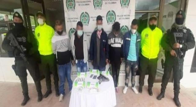 Capturan cinco peligrosos delincuentes en Soacha