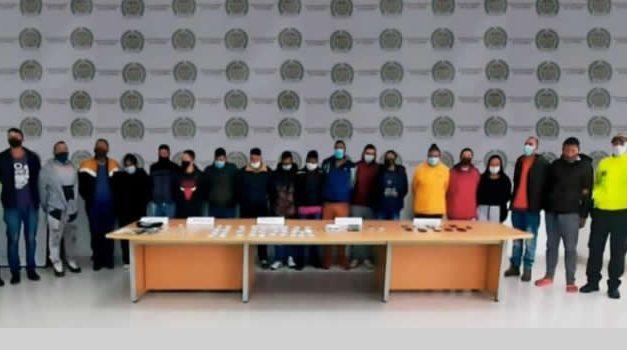 41 agentes encubiertos fueron necesarios para desarticular a 'Los Pijaos' en Cundinamarca