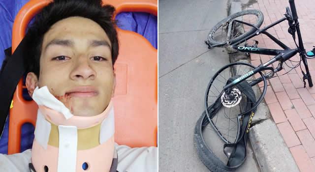 Ciclomontañista de Soacha sufre accidente un día antes de competir