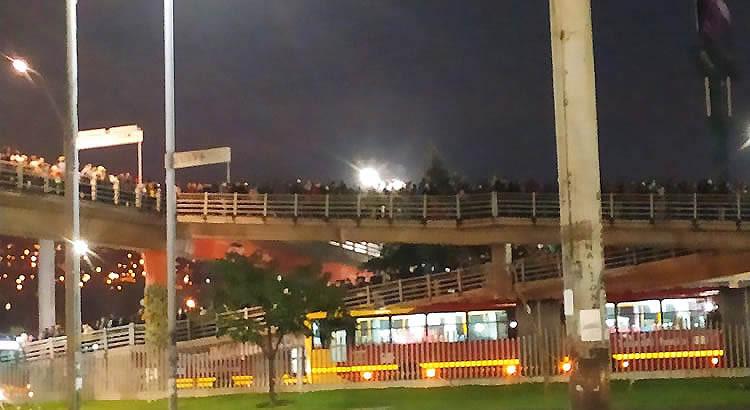 Aglomeraciones de usuarios se trasladaron a puente y estación de Terreros en Soacha