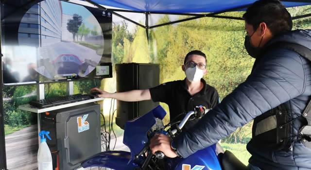 Con un simulador se lleva pedagogía vial a los municipios de Cundinamarca