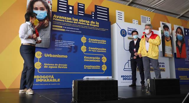 Empleo en la construcción del intercambiador del Metro de Bogotá en la calle