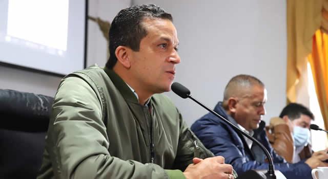 Policía Metropolitana e impuestos, temas del discurso de Saldarriaga en el Concejo de Soacha
