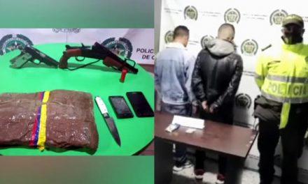 [VIDEO] Seis capturados e incautación de armas y estupefacientes en Soacha