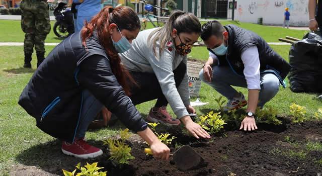 En Soacha siembran 400 plantas en zonas urbanas con motivo del Día Nacional del Árbol